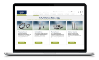 Schunk Carbon Technology   Website Relaunch